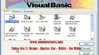 Tutorial de Visual Basic 6.0 - Video Nro 5 Bucles: For - Do While Loop - do Loop While