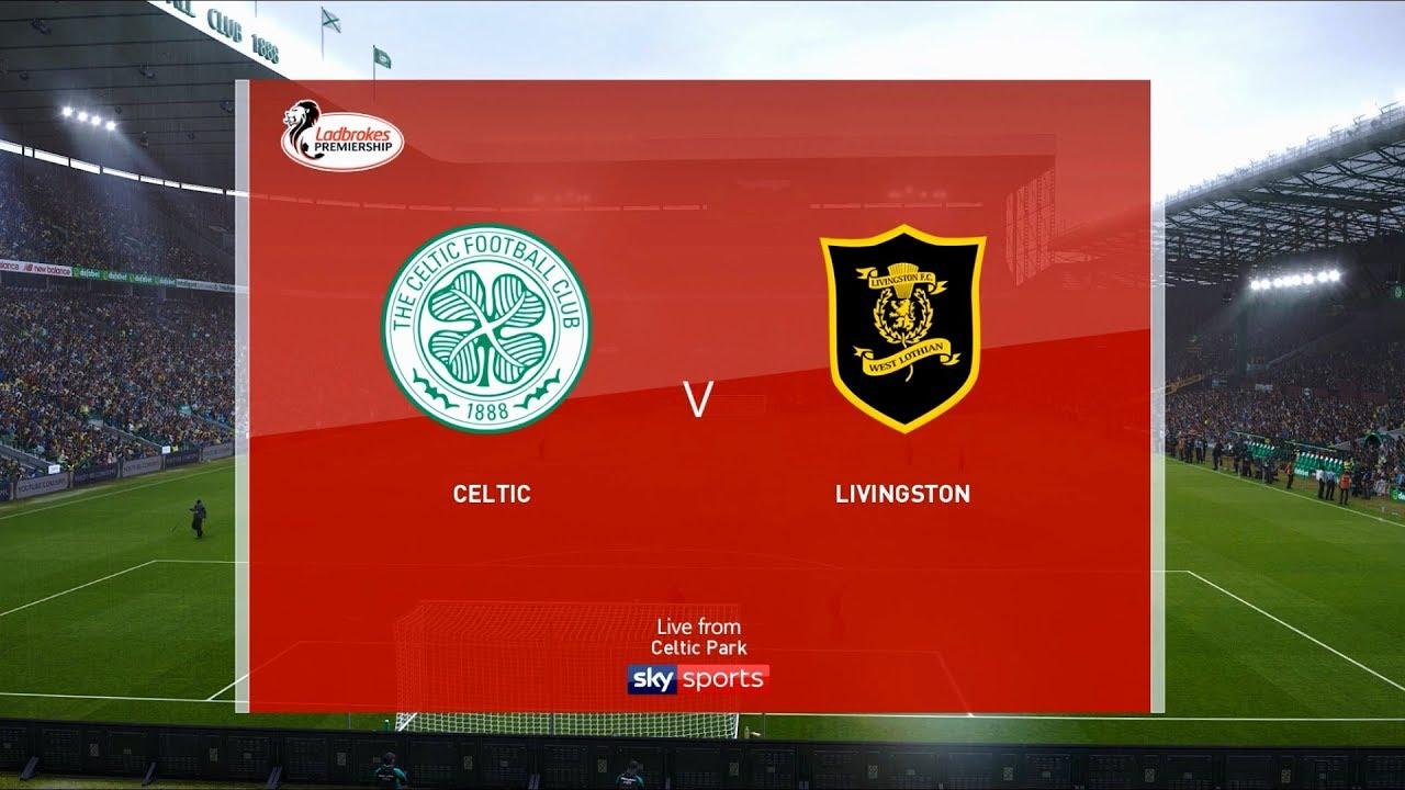 Celtic Vs Livingston Celtic Park 2019 20 Scottish Premiership Pes 2020 Youtube