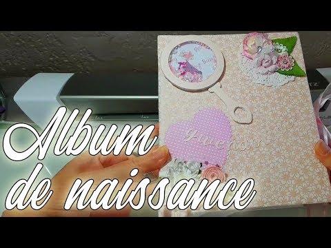 Album de naissance scrapbooking