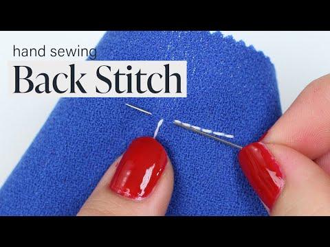 How To: Back Stitch (Appliqué)