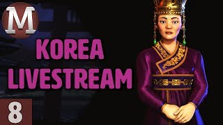 Video Civ 6 Rise and Fall - Let's Play Korea - Livestream Gameplay - Part 8 download MP3, 3GP, MP4, WEBM, AVI, FLV April 2018
