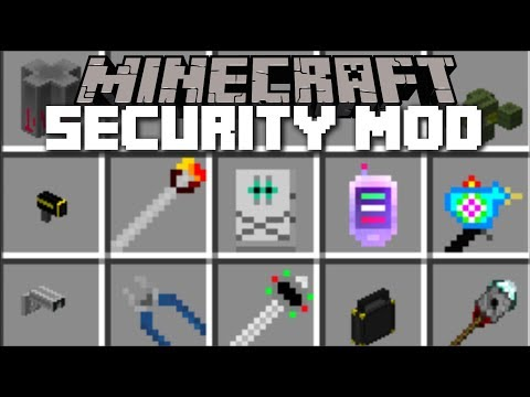 Minecraft SECURITY MOD / FIGHT OFF EVIL ZOMBIE MOBS WITH HIGH SECURITY WEAPONS!! Minecraft
