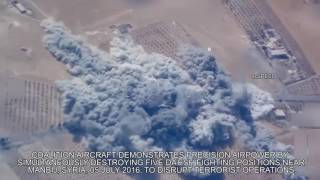 Five ISIS Positions Destroyed Simultaneously