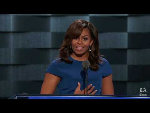 Michelle Obama, first lady of the United States, speaks at the Democratic National Convention