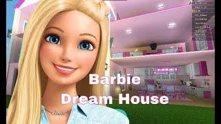 ROBLOX ] Welcome to Bloxburg,,, I made Barbie Dream House , Speedbuild and house tour