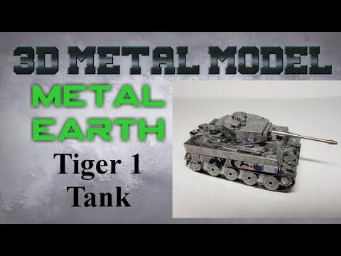 Metal Earth Build - Tiger 1 Tank
