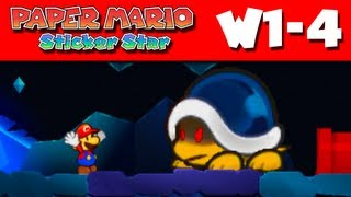 Paper Mario Sticker Star - W1-4 - Hither Thither Hill (Nintendo 3DS Gameplay Walkthrough)
