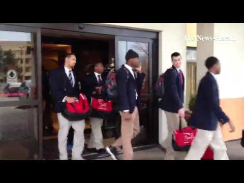 VASJ leaves the hotel on their way to value city Arena.