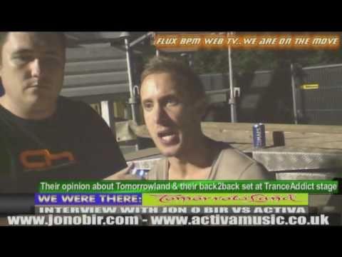 Interview with Jon O Bir & Activa at Tomorrowland