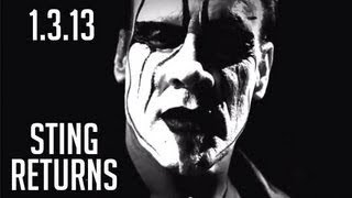 Sting returns on the January 3rd IMPACT on SpikeTV