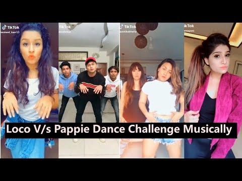 Loco V/s Pappie Dance Challenge Musically   Avneet, Aashika, Awez, Mrunal, Nagma, Bhavna