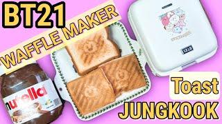 BT21 와플메이커로 정국이가 먹은 토스트만들기!! /…