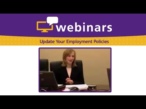 Update Your Employment Policies