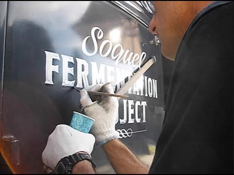 Aged Painted Lettering on 1936 Ford Truck