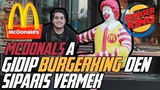 MC DONALDS'A GİDİP BURGER KİNG SİPARİŞİ VERDİK !!