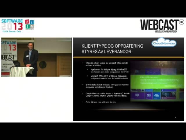 Dataforeningen, Software2013 -   Skytjenester: En grå verden