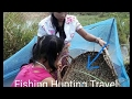 Beautiful Girl meet a leech when she fishing -Amazing Fishing in Cambodia- Khmer Traditional Fishin