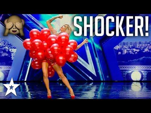 Balloon Dancer's Bra Floats Away on Spain's Got Talent!   Got Talent Global