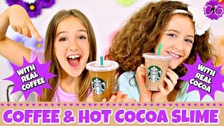COFFEE & HOT COCOA SLIME WITH REAL COFFEE & COCOA!  SMELLS AMAZING!  (NOT EDIBLE)