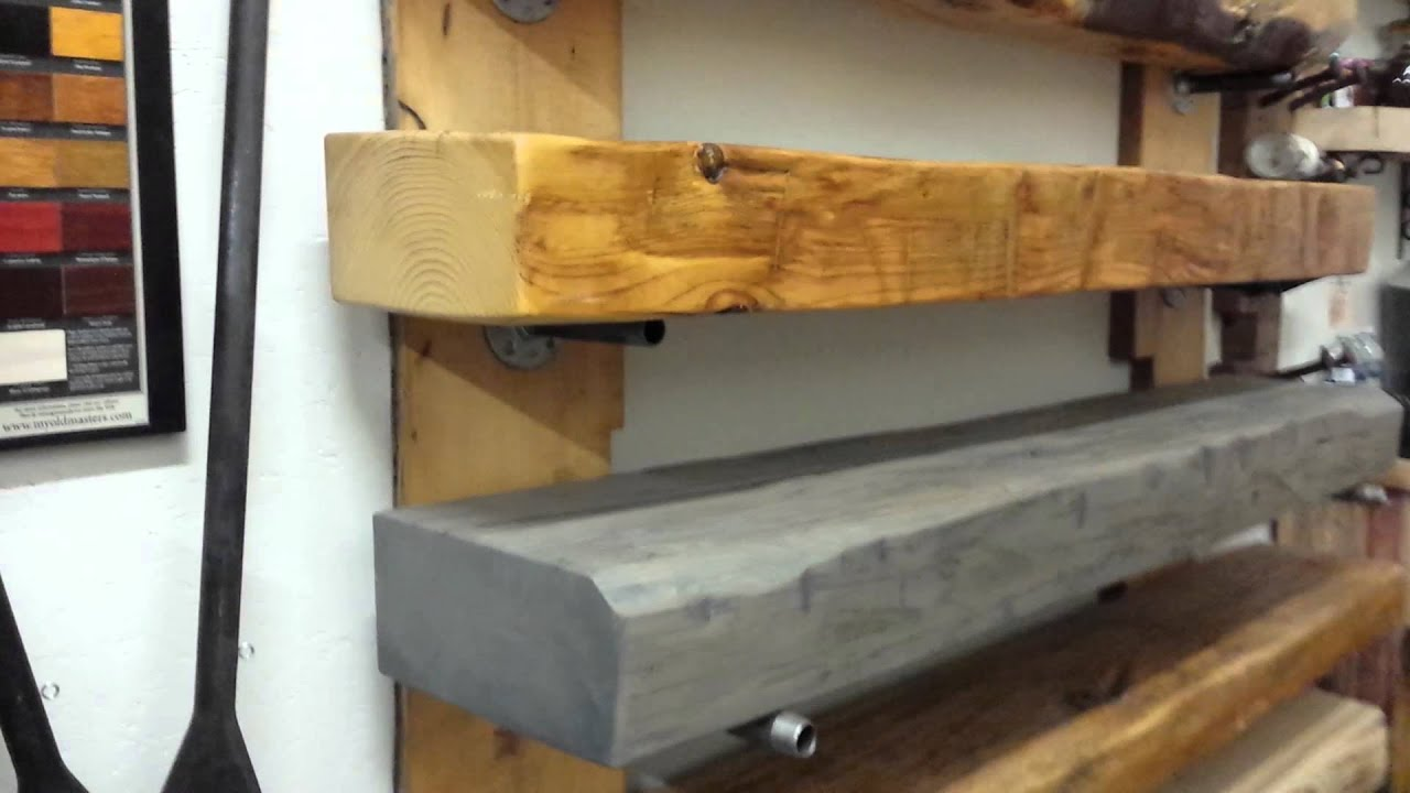 REBARN'S CUSTOM BARN BEAM FIREPLACE MANTELS! - YouTube