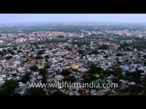 View from the top of Gwalior Fort showing the entire city!