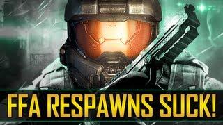 Worst Halo 4 Respawn Ever! FFA Respawns Suck!