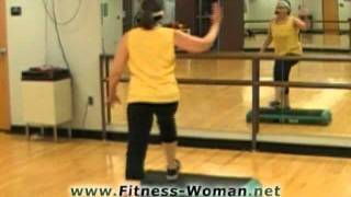 Video Fitness Woman step bench aerobics instructional move, Rock Your Bench.flv download MP3, 3GP, MP4, WEBM, AVI, FLV Agustus 2018