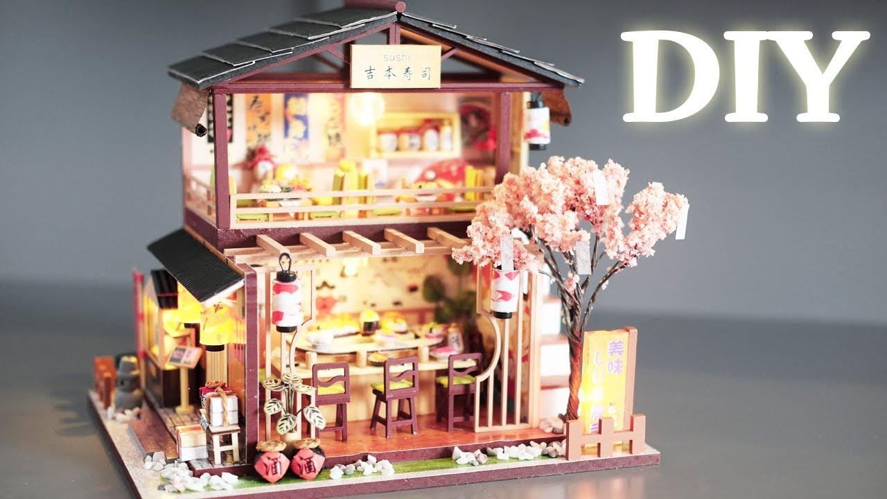 DIY Miniature Dollhouse Kit || Gibbon Sushi - Miniature Land