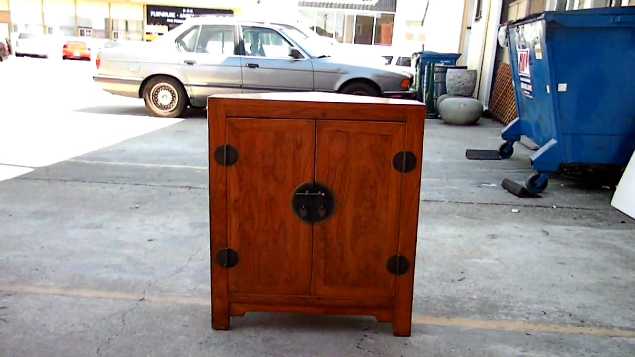 Chinese Moon Face Triangular Corner Side Table Cabinet WK1868 ...