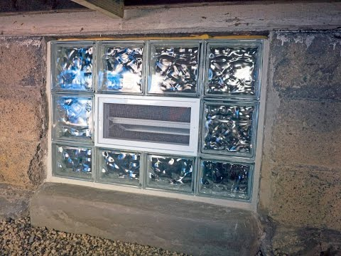 Preassembled Glass Block Window Installation