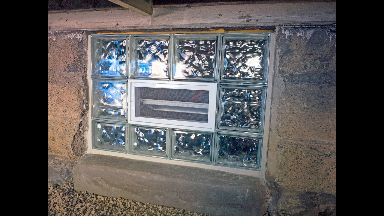 & Preassembled Glass Block Window Installation - YouTube