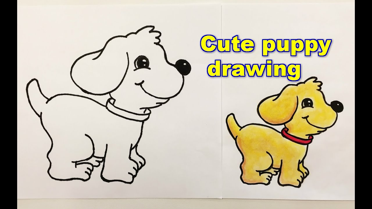Uncategorized Puppies To Draw Step By Step how to draw a puppy step by youtube step