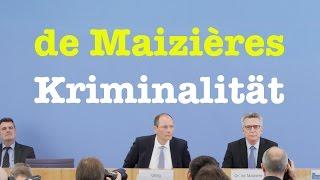 Polizeiliche Kriminalstatistik 2016 mit Thomas de Maizière & Markus Ulbig (CDU) - BPK 24. April 2017