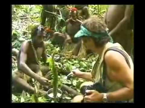 Isolated tribe man meets modern tribe man for the first time - Original Footage full