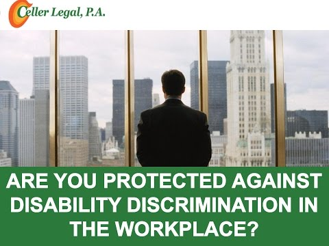 Are You Protected Against Disability Discrimination in the Workplace?