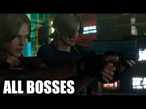 Resident Evil 6 - All Bosses With Cutscenes HD