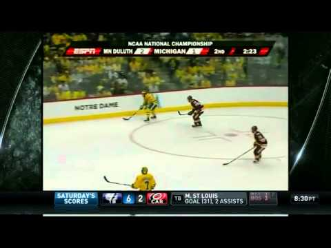 2011 NCAA Frozen Final Game Highlights Minnesota vs Michigan
