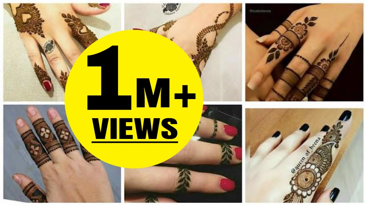 Latest Mehndi Designs For Fingers Simple And Easy Mehndi Photos Only 2019
