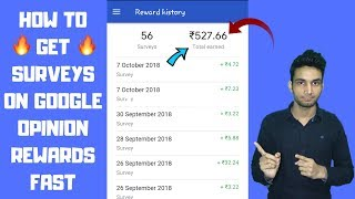 Get 100 % Survey In Google Opinion Reward 2018 With My Earning Proof