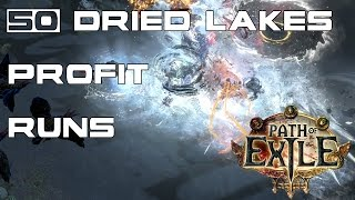 Path of Exile: Result of 50 Dried Lake Runs - Cost & Returns!