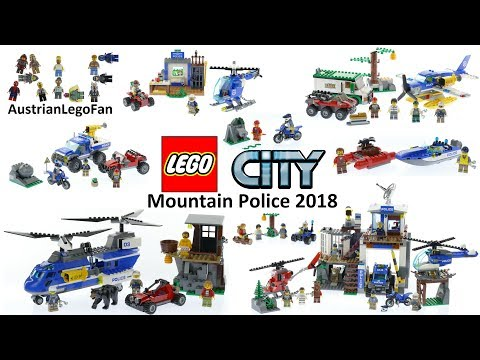 All Lego City Mountain Police Sets 2018 - Lego Speed Build R
