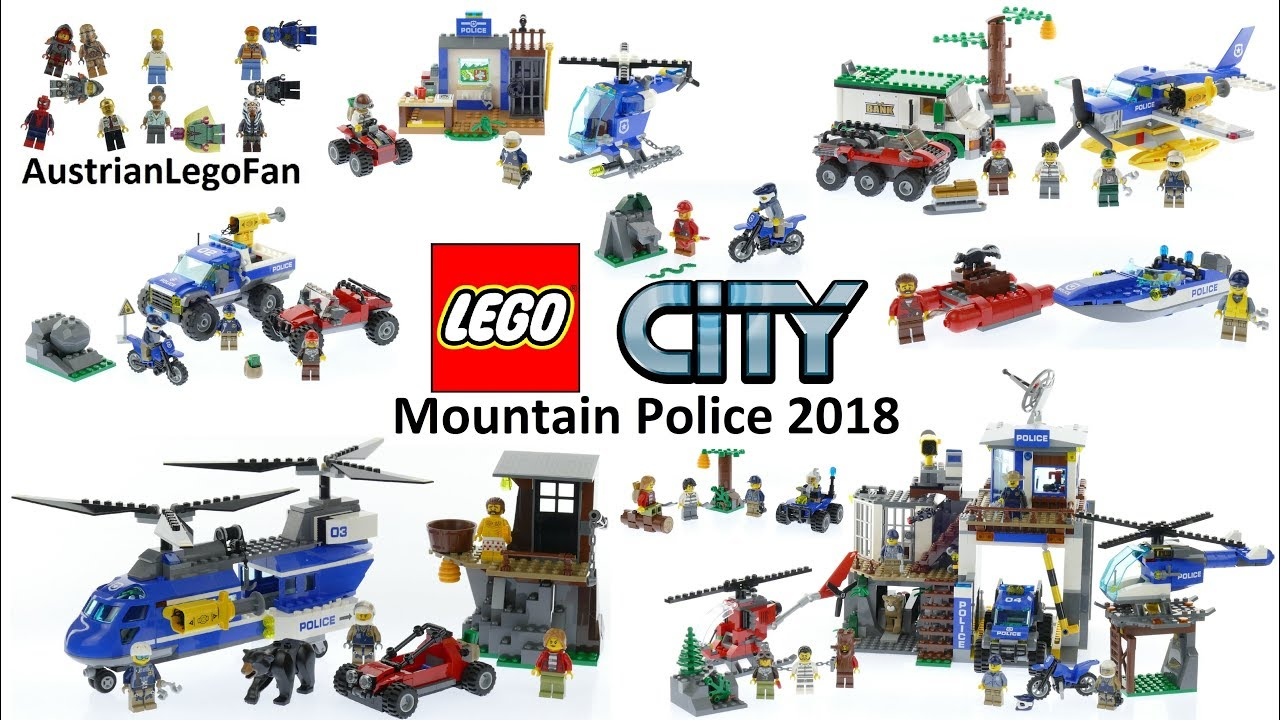 all lego city mountain police sets 2018 lego speed build. Black Bedroom Furniture Sets. Home Design Ideas