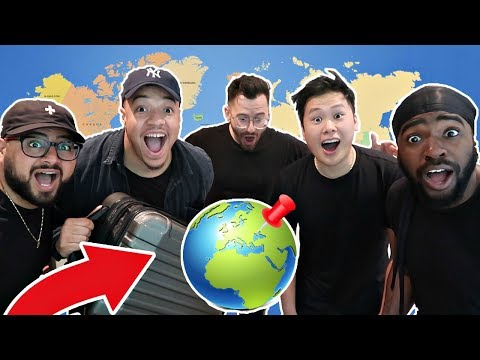 SPIN THE GLOBE AND GO CHALLENGE!!! (TRAVEL WHEREVER IT LANDS)