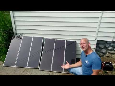 Going Off Grid With Two Solar Panels