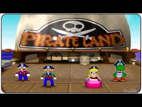 Mario Party 2 (N64) Pirate Land (Full Playthrough)