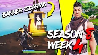 WHERE is the SECOND FREE BANNER for the SEASON 8 (Week 4)-Fortnite Battle Royale CZ/SK