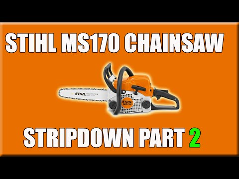 Part 2 Stihl MS170 Chainsaw Stripdown Oil Feed Fuel Tank Clutch Carb Flywheel Removing How To