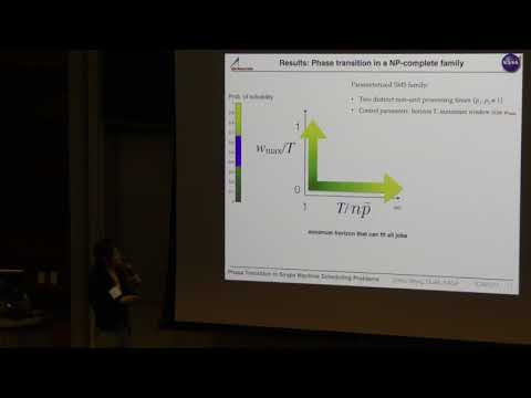 ICAPS 2017: An Investigation of Phase Transitions in Single- Machine Scheduling Problems