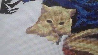 Вышивка крестом. Котята с книгами, продвижения