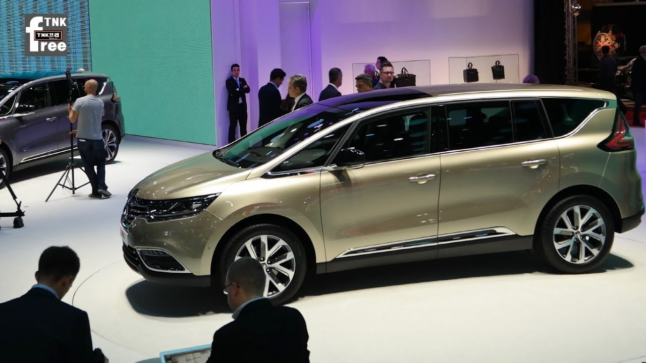 2015 renault espace at 2014 paris motor show. Black Bedroom Furniture Sets. Home Design Ideas